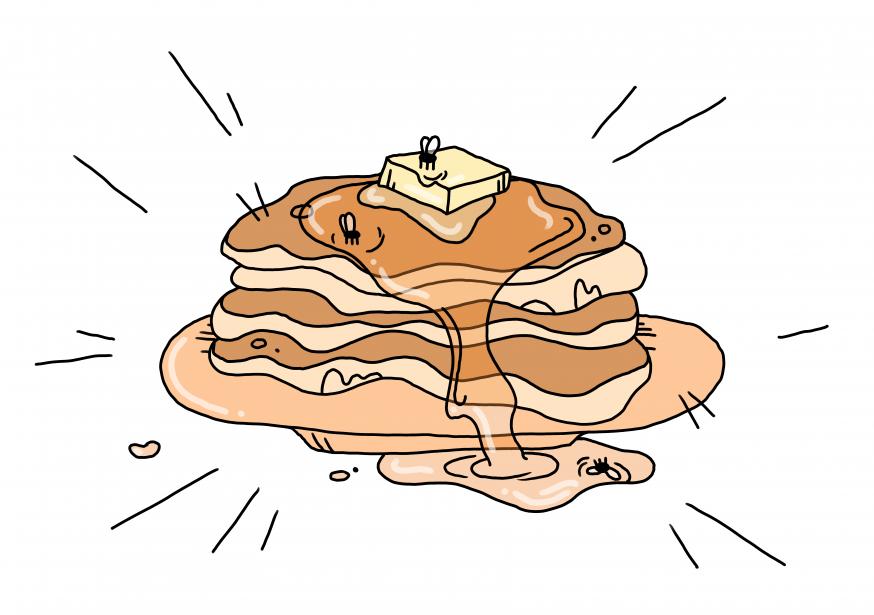 pfannkuchen im sommer
